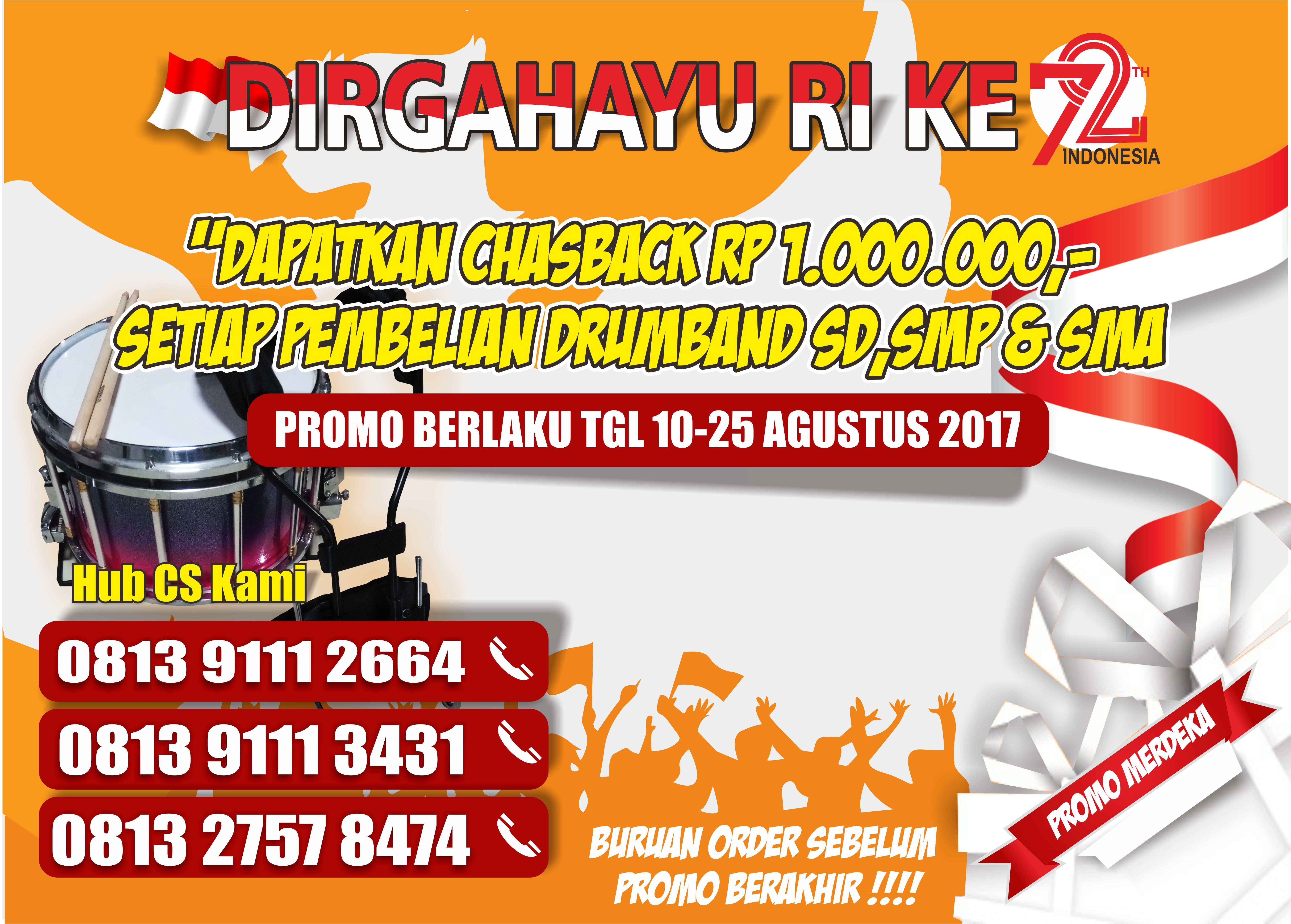 jual drumband promo cash back murah